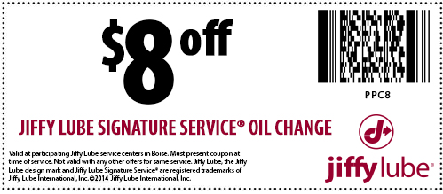 Oil change coupons boise